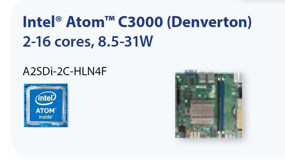 Supermicro-Mainboard A2SDi-2C-HLN4F mit Atom C3338