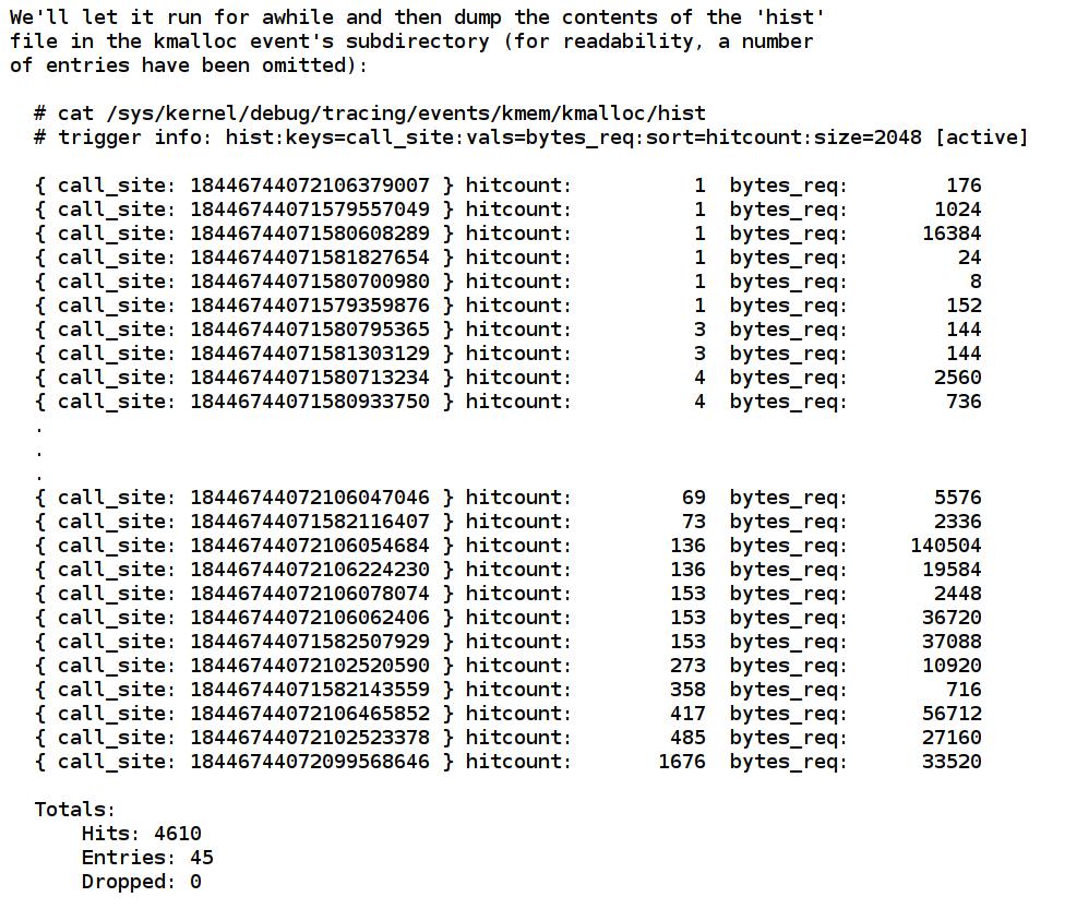 Screenshot der Kernel-Dokumentation
