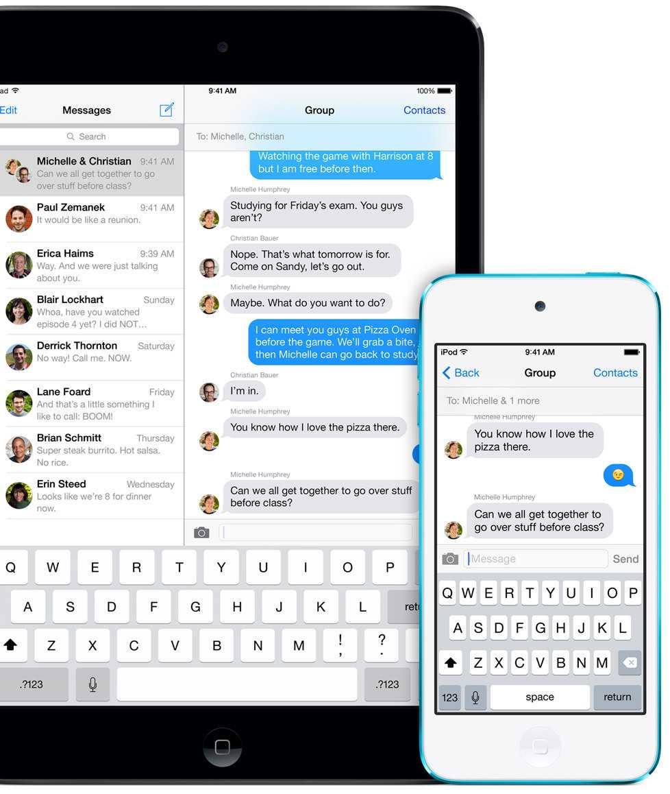 Apples hauseigene Apps – hier Messages – sind zumeist gut für Hör- und Sehbehinderte angepasst.