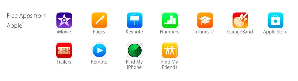 Einige der Apple-Apps sind künftig vorinstalliert – auf den iPhone-Modellen mit mehr Speicherplatz