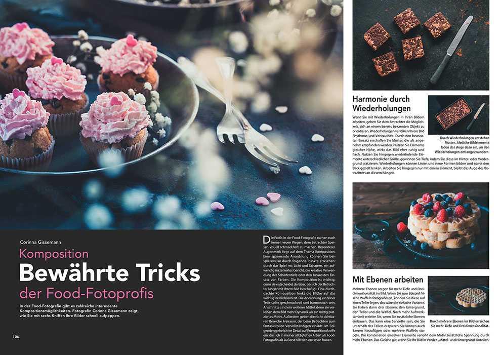 Lesen Sie sechs Profitipps für Foodfotos. Mit geschickter Komposition wirken Ihre Bilder glaubhaft und appetitlich.
