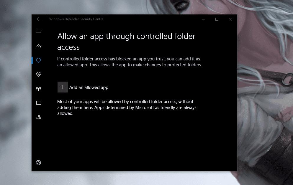 Werksseitig dürfen die Office-Apps von Microsoft auf die geschützten Ordner zugreifen. Das steht aber leider nirgendwo. Sie tauchen in der Liste der erlaubten Programme nicht auf.