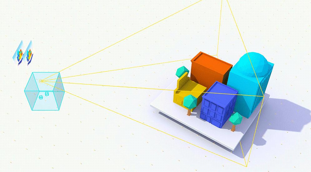 Die Software untersucht, welche Bereiche einer Szene im VR-Headset sichtbar sein kann.