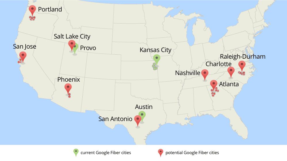 Google Fiber Landkarte