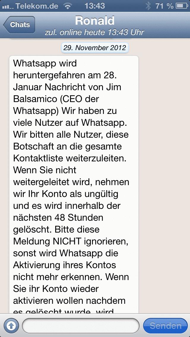 Kettenbrief Verunsichert Whatsapp Nutzer Heise Online