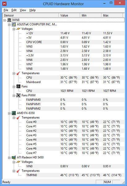 Cpu Temperatur Auslesen