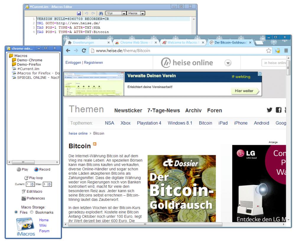 iMacros für Chrome | heise Download