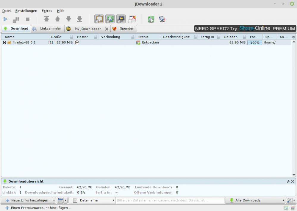 Jdownloader entpackungsfehler