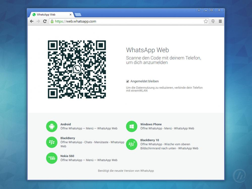 whatsapp laptop ohne handy